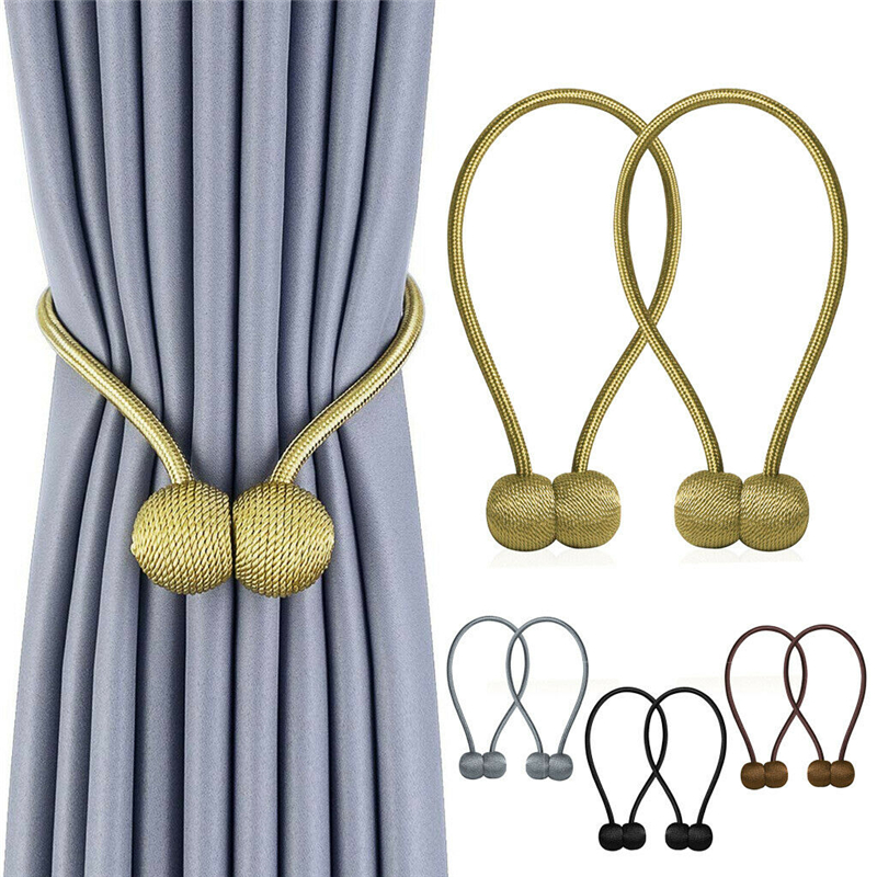 Bola magnética nova pérola cortina simples gravata corda acessório hastes accessoires volta holdbacks fivela clipes gancho titular decoração da sua casa