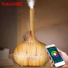 Umidificador de ar ultra sônico tuya controle app 400ml aroma difusor óleo essencial névoa maker 7 cor luz noturna casa spa