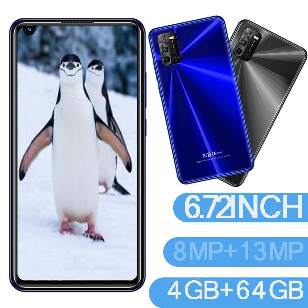 5i смартфонов 6,72 дюймов Большой Экран 4G Оперативная память + 64G Встроенная память 8MP + 13MP прочная защитная пленка/задняя Камера Android мобильных ...