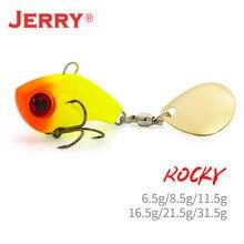 Jerry rocky vib lâmina iscas colher de metal jig artificial afundar vibração chumbo iscas para pike bass