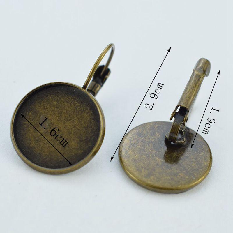 Vintage Copper Hook Earrings Van Gogh Famous Painting Glass Cabochon Hoop Earrings Art Jewelry Christmas Gift for Women