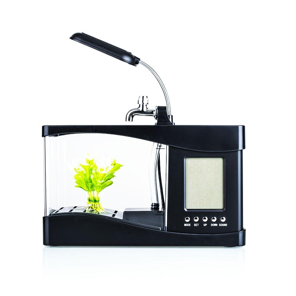 Poisson rouge bol lampe petit Aquarium poisson réservoir magasin réveil LED lumière calendrier perpétuel famille bureau thermomètre mode - 6