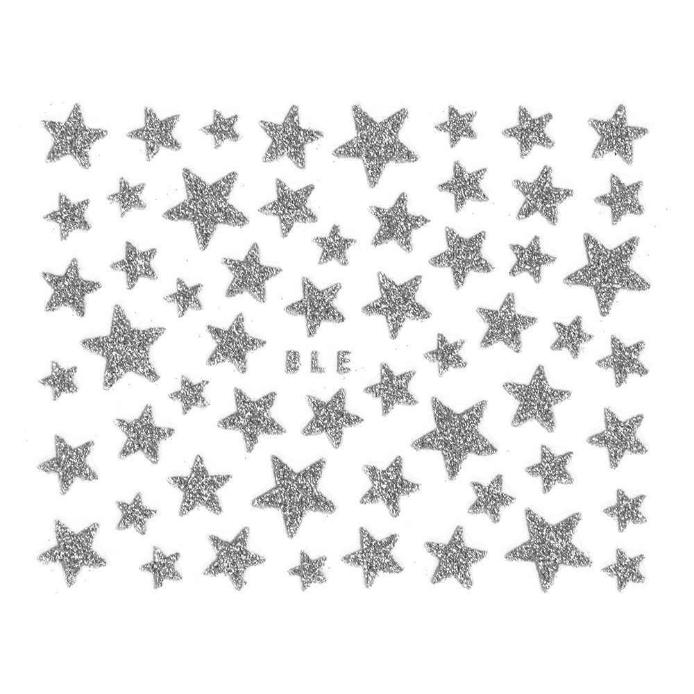 1Pcs 3D Nail Slider Stars Stickers Glitter Shiny Decoration Decal DIY Transfer Adhesive Colorful Nail Art Tips Manicure Foil Dec