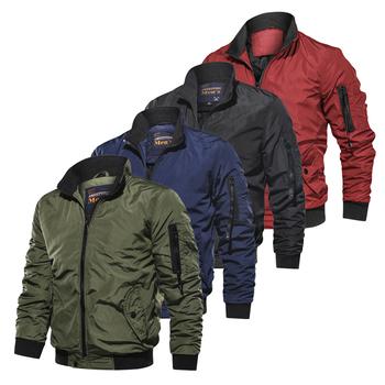 2019 kurtki wojskowe mężczyźni wiosna jesień zima bawełniana wiatrówka płaszcz pilota armia męska Bomber Cargo kurtki lotnicze odzież męska tanie i dobre opinie JYVIN AUTUMN Winter WindStopper Pasuje prawda na wymiar weź swój normalny rozmiar