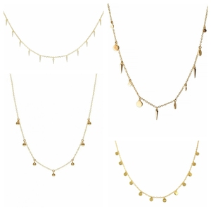 ROXI Minimalism Round Rivets Small Beads 925 Sterling Silver Women Clavicle Necklace Elegant Pendant Necklaces Jewelry Chains