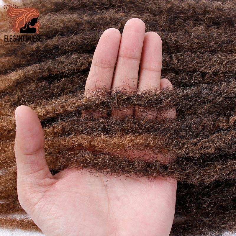 ELEGANT NUSES Jumbo Crochet Braids Hair Ombre Afro Kinki Soft Synthetic Marley Braiding Hair Crochet Hair Extensions Bulk