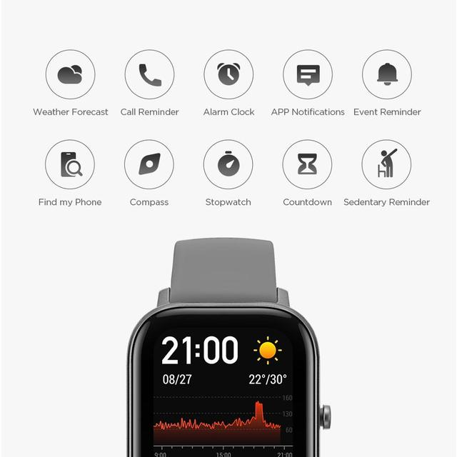 Global Version Amazfit GTS Smart Watch 5ATM Waterproof Swimming Smartwatch NEW 14Days Battery Music Control for Xiaomi IOS Phone 3