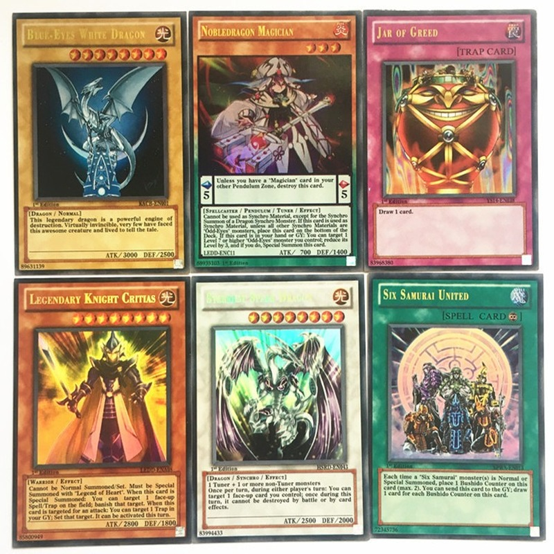 100PCS Yu Gi Oh Japanese Anime 100 Different English Card Wing Dragon Dragon Giant Soldier Sky Dragon Flash Card Kids Toy Gift