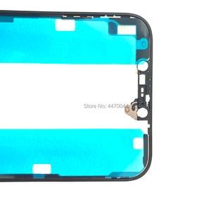 Image 5 - 10pcs סיטונאי מסגרת עם דבק דבק מדבקה עבור iPhone X XS מקסימום 11 12 פרו מקס התיכון החלפת הלוח הקדמי זכוכית מסגרת Reapir