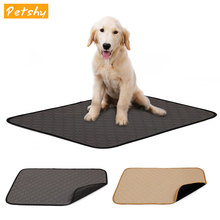 Petshy Anti-slip Dog Cat Pet Pee Pad Mat Washable Absorbent Environment Protect Diaper Urine Mat Reusable Dog Cushion Mattress