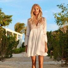 Bordado algodão praia cobrir saida de praia maiô mulher biquíni cobrir túnicas para praia pareo sarong beachwear # q510