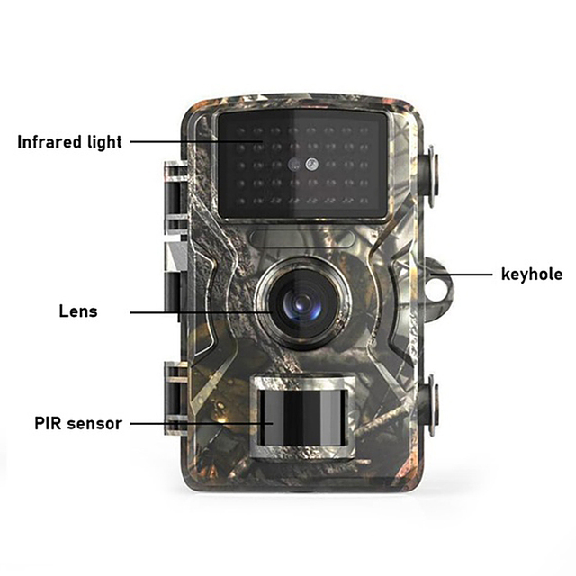 Trail Camera 12MP 1080P Wildlife Game Hunting Trail Camera Motion Activated Security Camera IP66 Night Vision Scouting Camera 2