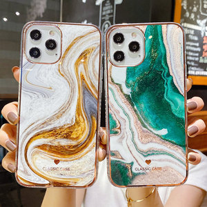 Glitter Gradient Marble Texture Phone Case For iPhone 11 12 11Pro Max XR XS Max X 7 8 Plus 11Pro 12 Shockproof Bumper Back Cover
