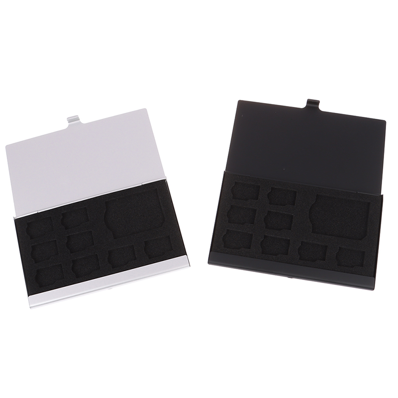9 Memory Card Storage Holder Box Protector Metal Cases