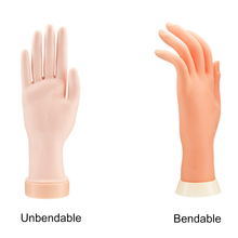Manicure Practice Hand Fake Hand Flexible Soft Plastic Model Painting Practice Nail Art Training Tool цены