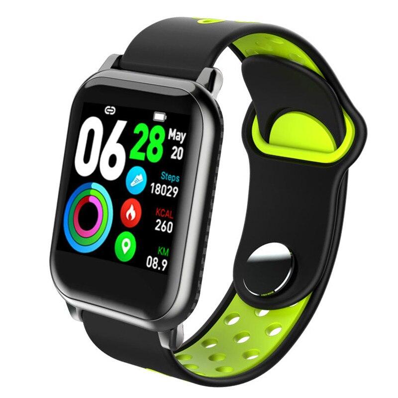 KY11 Sport Smart Watch Ultra-thin men waterproof Multi-sports modes blood pressure monitor smart bracelet pink fit Women
