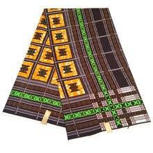 6 ярдов ткань из полиэстера с Африканским цветочным узором Анкары
