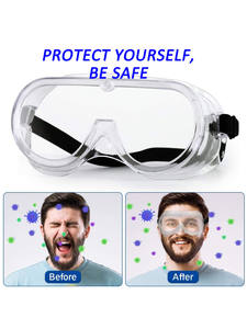 Goggles Safety-Glasses Lenses-Eyewear with Clear Anti-Fog Scratch-Resistant Wrap-Around