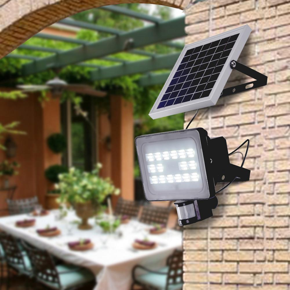 10W 20W 30W 50W LED Solar Floodlight Super Bright SMD2835 4000LM Outdoor Lighting Garden Lights Cool Whiten EU Warehouse USA