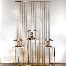 Luksusowy żelazny ekran ślubne kurtyny zaopatrzenie firm dekoracja do tła ramki ozdoby ciasto filar kwiat cokół metalowa deska tanie tanio CN (pochodzenie)
