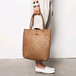 Square Mulit Style Straw Bag Handbags Women Summer Rattan Bag Handmade Woven Beach Bohemia Shoulder Bags New Fashion