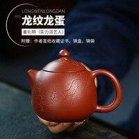 Berühmte Drachen Ei lila ton topf  raw erz  Dahongpao  handgemachte tee set  geschenk box  authentische teekanne-in Teekannen aus Heim und Garten bei