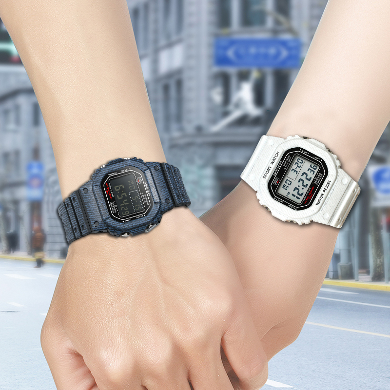 Couple Lover's Watch Waterproof Digital Watches Shock Resist Clock relogio masculino Fashion Noctilucen Denim Sport Men Watches