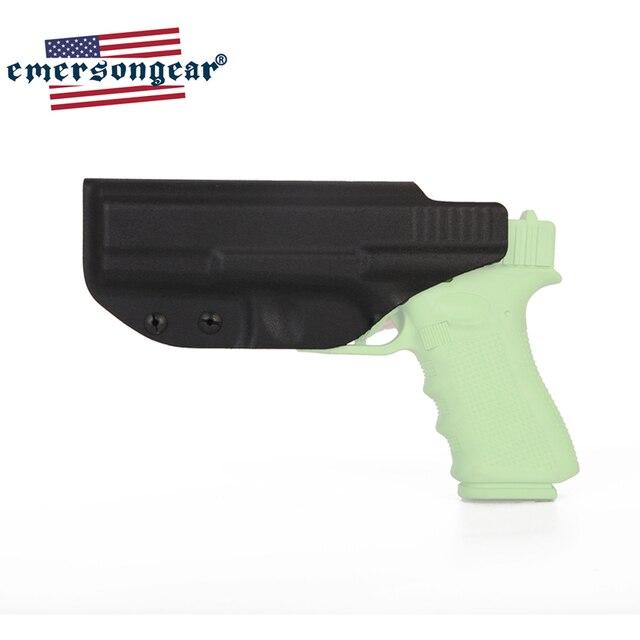 Emersongear Pistol Holster G17 G22 G31 GLOCK Holster Inside Concealed Carry Waistband Pistola Belt Clip Accessories Right Hand