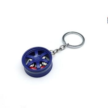 Hot RIM Car wheel Turbo keychain key ring with Brake discs Tire Wheel Keychain Auto Key Chain Keyring For BMW Audi