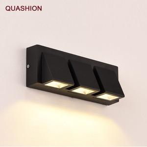 Modern minimalist wall lamp LED Aluminium Sconce IP65 waterproof Home Stairs Bedroom Bedside Bathroom wall light decor