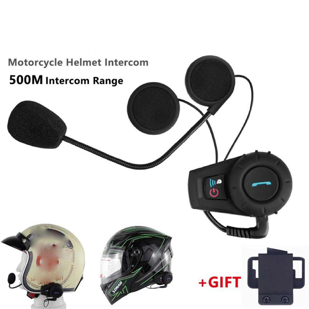 Motorcycle Helmet 500M Walkie Talkie Headset Helmet Wireless Headset Headphones Helmet Walkie Talkie System