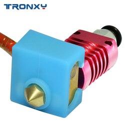 Atualizado kits MK8 24V 50W cabo Aquecedor Termistor 100K 3D hotend J-cabeça de Impressora para 1.75mm Filamento Extrusora Bico 0.4 milímetros
