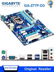 LGA1155 Mainboard USB3.0 SATA3 DDR3 Z77 Z77P-D3 Desktop Used Gigabyte 32G Work-Steady