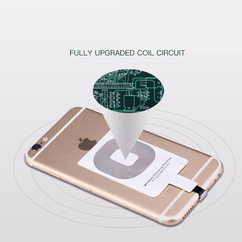Micro USB Type C универсальное Быстрое беспроводное зарядное устройство адаптер для Samsung huawei для iPhone для Android Qi беспроводной зарядный приемник-4