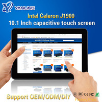 Yanling Rugged Industrial Tablet PC Intel J1900 2 Lan Desktop All in one Computer 10.1'' Capacitive Touch Screen For Windows 10