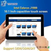 Yanling 頑丈な産業用タブレット pc インテル J1900 2 lan デスクトップオールインワンコンピュータ 10.1 容量性タッチスクリーン windows 10