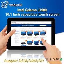 Yanling tablette PC industriel robuste de 10.1 pouces, avec processeur Intel J1900, 2 Lan, tout en un, pour Windows 10, écran tactile