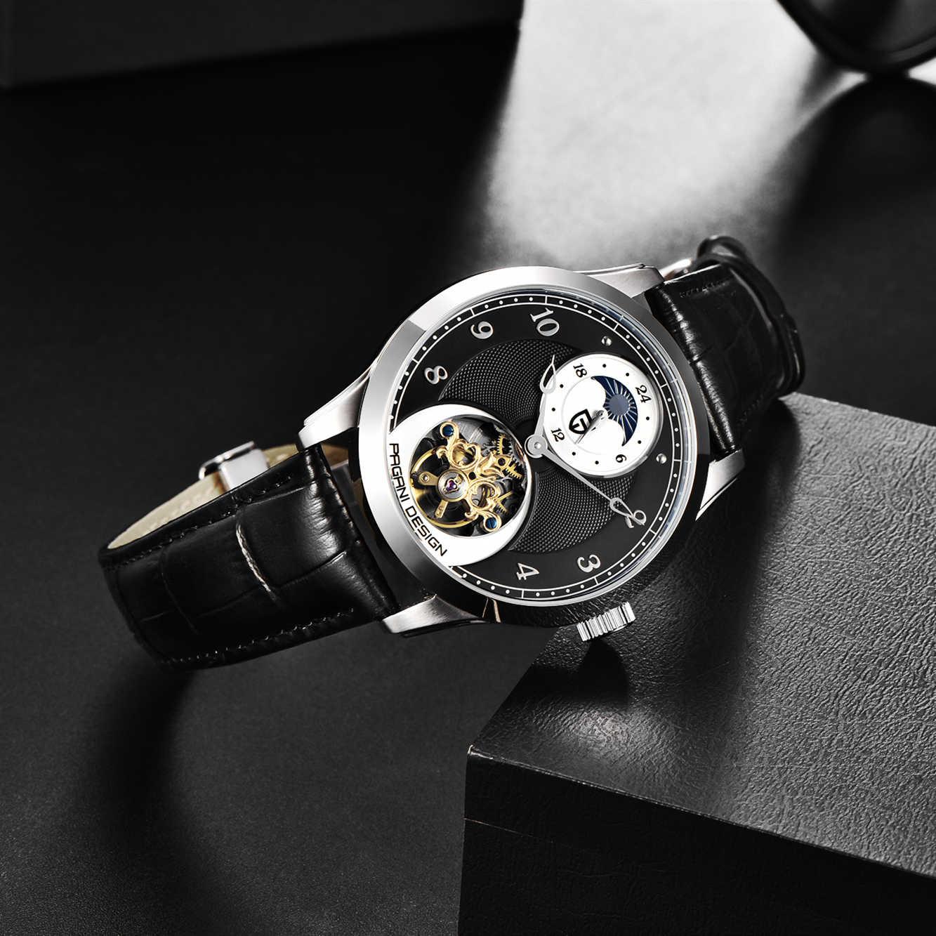 PAGANI DESIGN แฟชั่นผู้ชายนาฬิกาข้อมือกีฬานาฬิกาผู้ชาย Tourbillon นาฬิกาอัตโนมัตินาฬิกากันน้ำ 100 เมตร