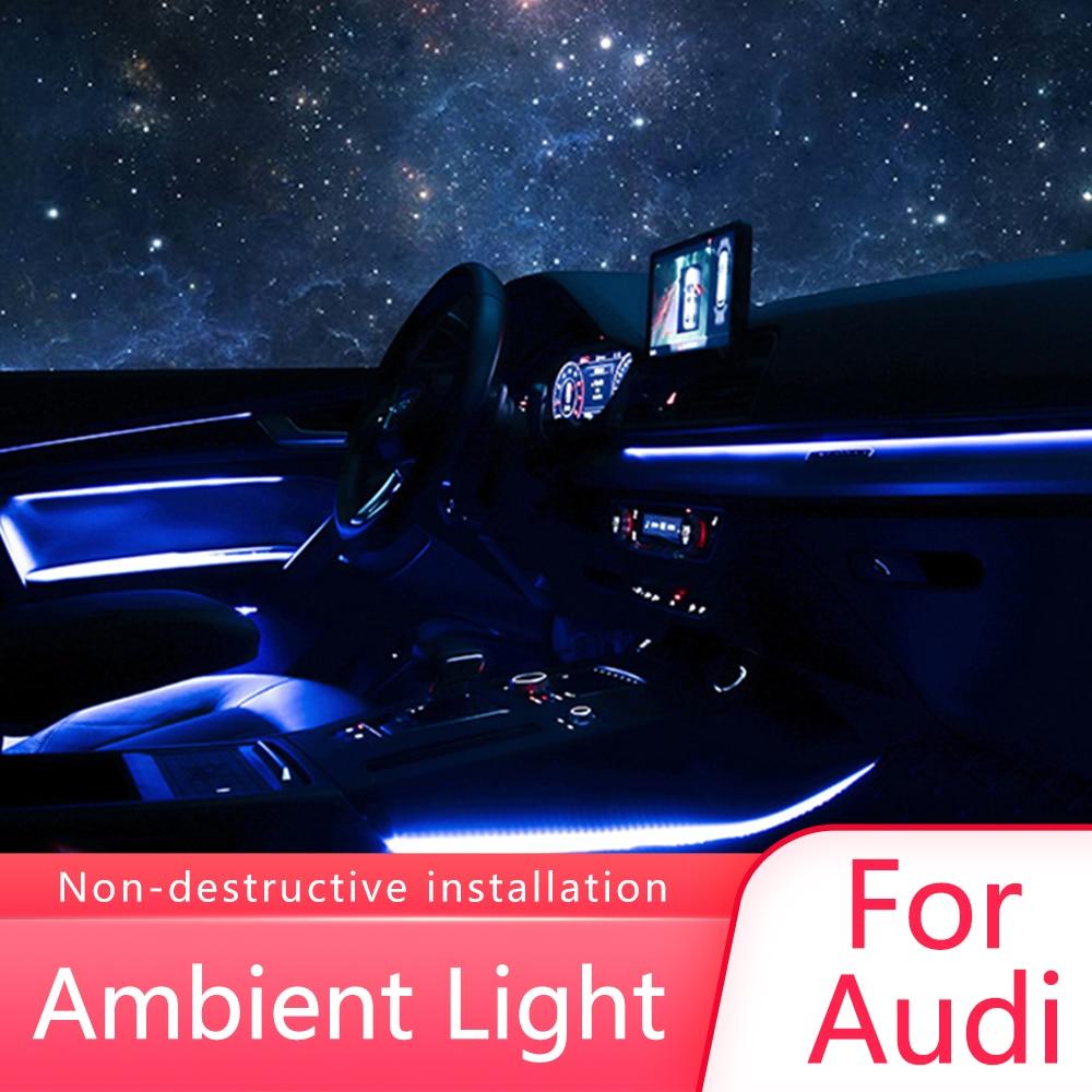 Interior LED Decorative Ambient Light Car Atmosphere Light Decoration Door Trim Panel For Audi A3 A4 A5 A6 A7 Q5 Q7