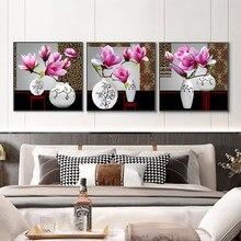 Affiches et imprimés d'orchidées, fleurs dans un Vase, peinture sur toile abstraite, tableau d'art mural ou décor de maison pour salon