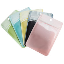 100Pcs/lot Clear Plastic Zip Lock Self Seal Reusable Packing Bags with Hang Hole Zipper Dried Fruits Candy Retails Storage Bags