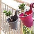 고품질 벽 교수형 식물 꽃 냄비 내구성 라운드 수지 발코니 재배자 양동이 화분에 심은 식물 홈 가든 후크없이