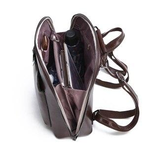 Image 5 - Sac à dos Vintage en cuir pour femmes, sac décole de grande capacité pour filles, sac à bandoulière de loisirs, 2020