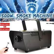 500W Draagbare Fog Machine Draadloze Mist Rookmachine Mini Led Rgb Afstandsbediening Fogger Ejector Machine Dj Disco Bar Party stage Licht