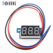 0.36 inch DC 0-30V 3-digit digital display voltmeter mini yellow LED digital panel voltmeter diy electronic tantalum capacitor 3 digit blue led digital voltmeter meter module 3 3 17v