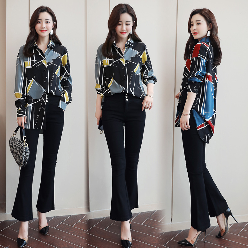 WOMEN'S Dress 2019 Spring Trend Of Fashion Comfortable Slim Fit Floral Two-Piece Set