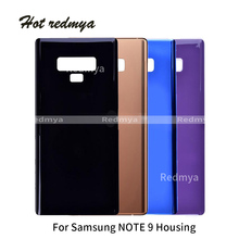 Full Housing For Samsung Galaxy Note9 Note 9 N9600 SM-N960F Phone Rear Battery Door Glass Back Cover Cases With Sticker