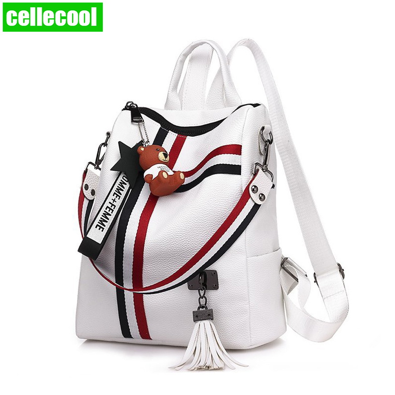 2019 New Bags For Women Retro Fashion Zipper Ladies Backpack PU Leather High Quality School Bag Shoulder Bag For Youth Bags