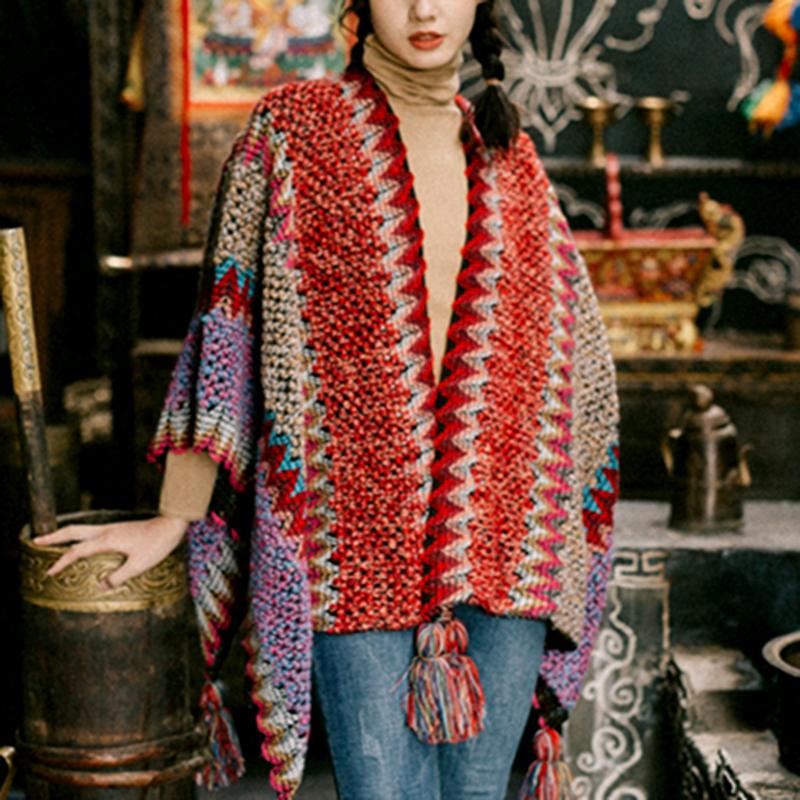 Винтажная накидка gypsylady в стиле бохо верхняя одежда красное