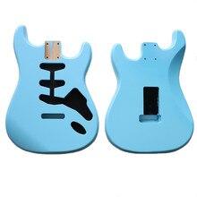 Nitro bitmiş DIY SSS Sonic mavi Alder gitar vücut SSS el yapımı elektro gitar kitleri